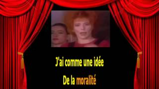 Karaoké Mylène Farmer Je t'aime mélancolie