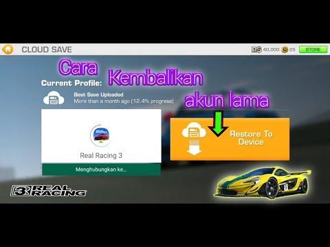Mengaitkan akun lama Real Racing 3