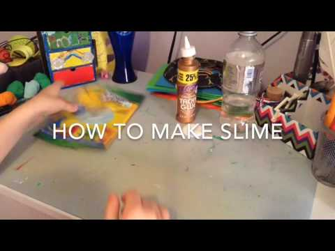 How to make slime with clayno borax Crafty Creations
