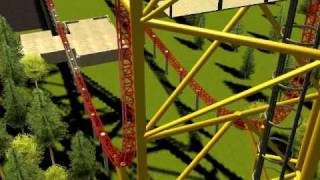 Roller Coaster Tycoon 3 - Top Thrill Dragster Recreation (Version 1)