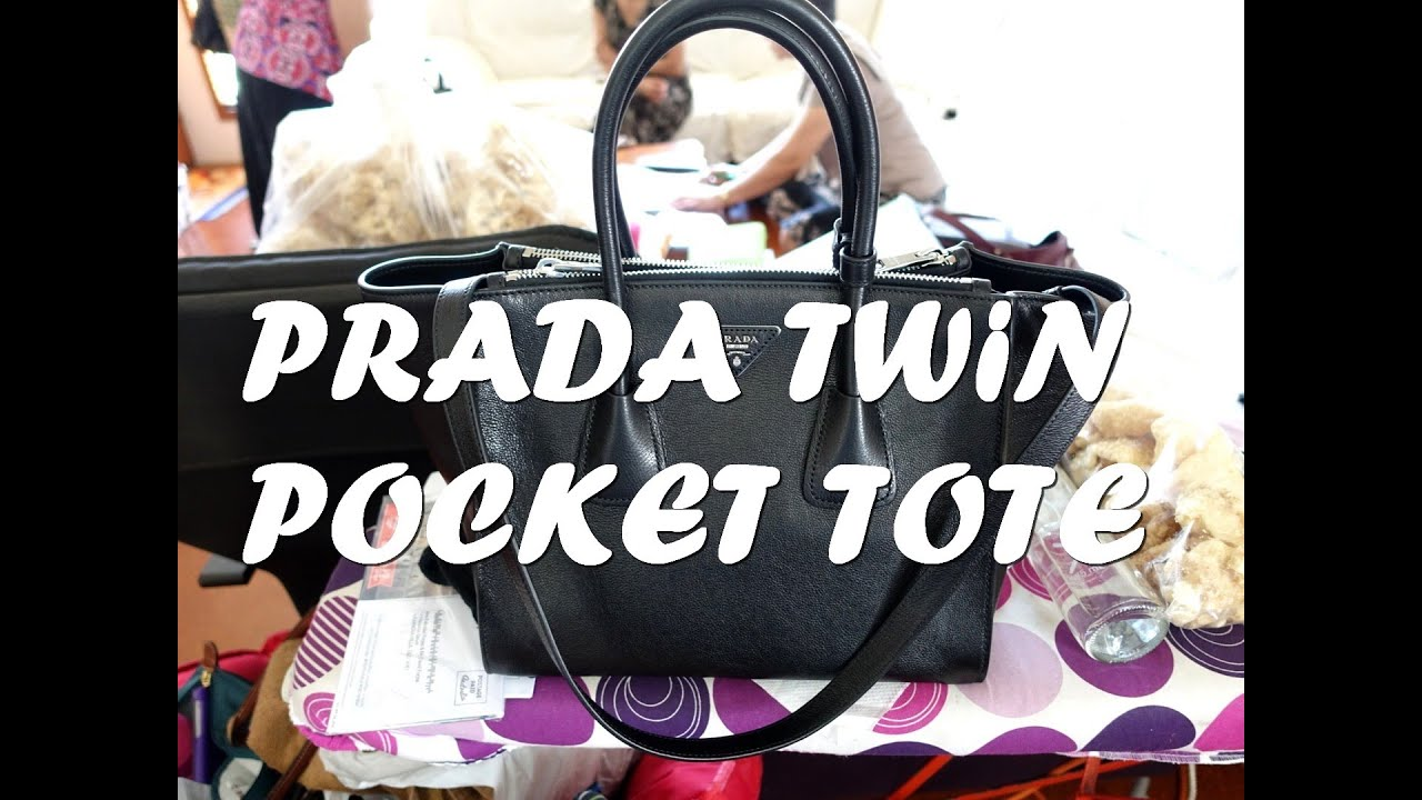 32668132ad97 Prada Bag Twin Pocket Tote Review (Nero) BN2619 *2015* - YouTube