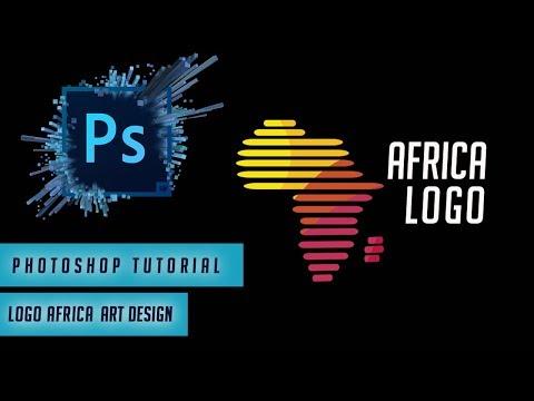 Photoshop Tutorial : Logo Africa Art Design  |  Graphic Designer