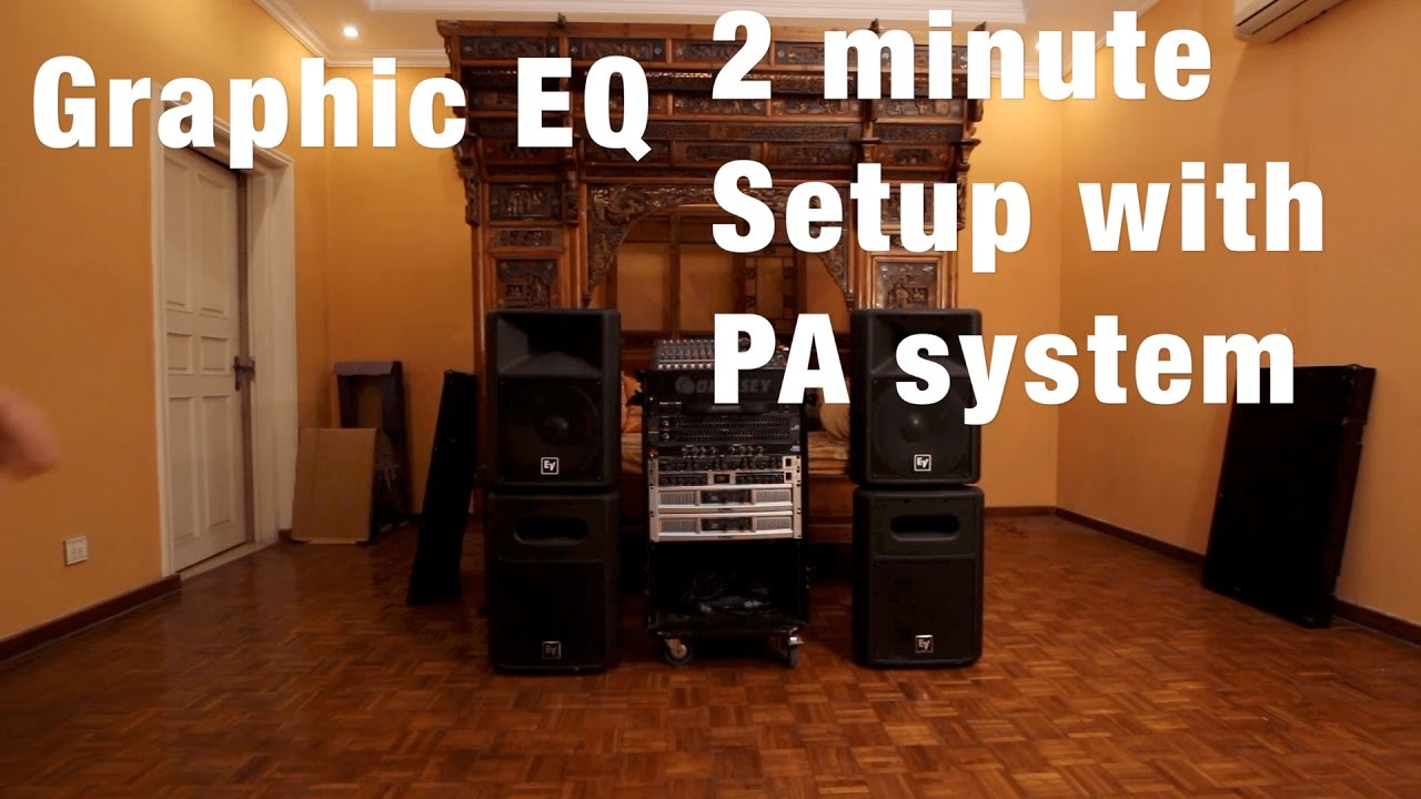 How to connect Graphic Equalizer with PA system 2 minute Setup