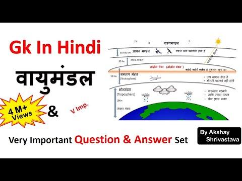 Gk In Hindi | पृथ्वी का वायुमंडल(Atmosphere) | ग्रीन हाउस प्रभाव | SSC/MPPSC/UPSC/Railway Exam
