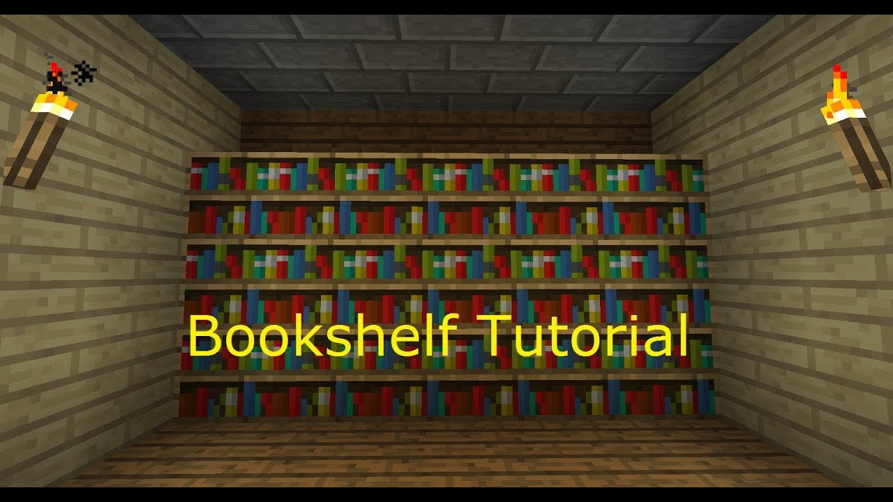 How to make a bookshelf in Minecraft 59