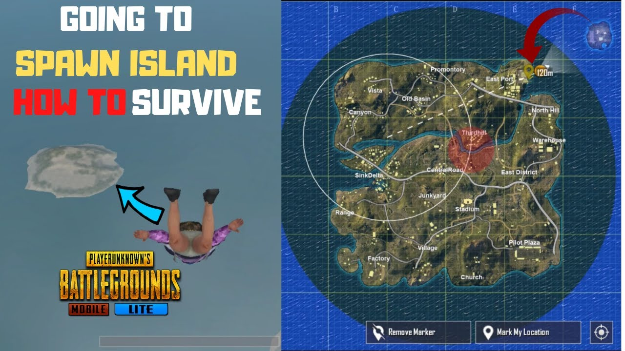I Go To Spawn Island Again Can I Survive From Blue Zone In Pubg Mobile Lite