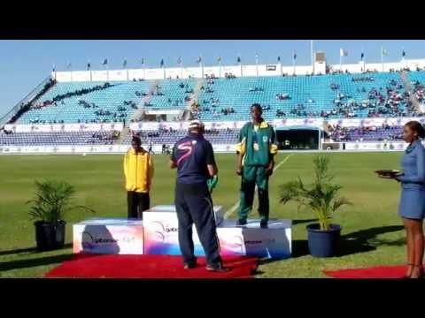 African Youth Games: Girl's 100m Final Medal Ceremony