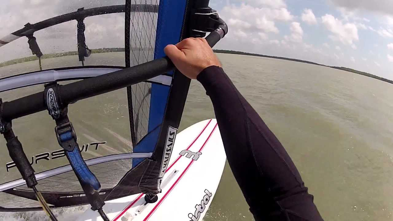Juan Windsurfing Mistral Prodigy Board and Pursuit Sail 7 5 Meters