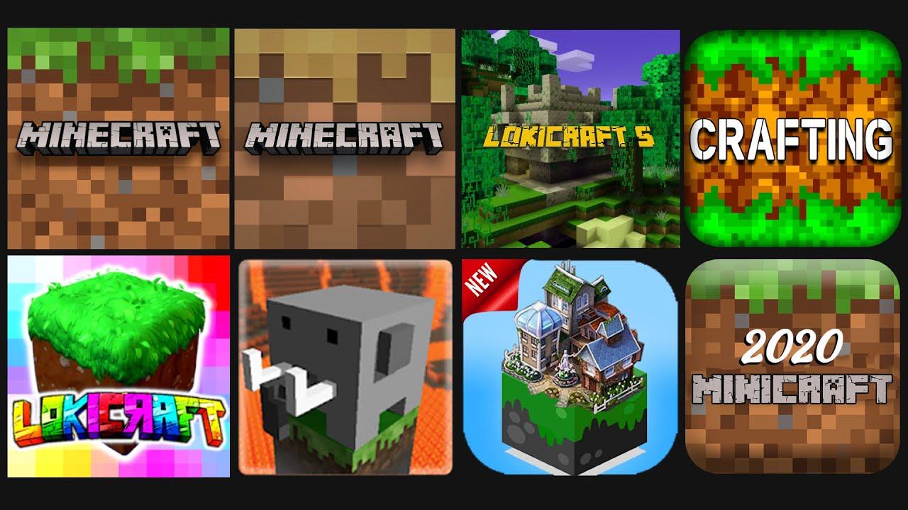Lokicraft VS Minecraft PE 1.18 BETA VS Minecraft Trial VS Lokicraft 5 VS other mcpe copy games