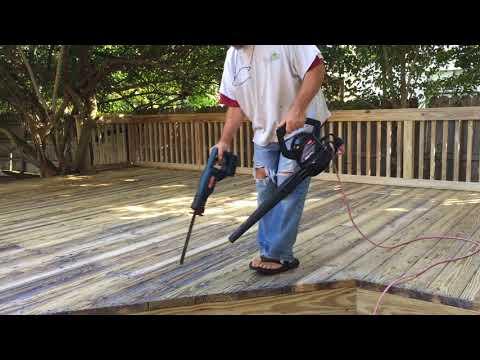 Sawzall To Clean Debris From Deck Cracks