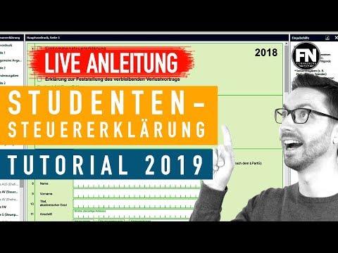 Steuererklärung Student Anleitung 2019 2018 | Steuererklärung Selber Machen Elster Student Tutorial