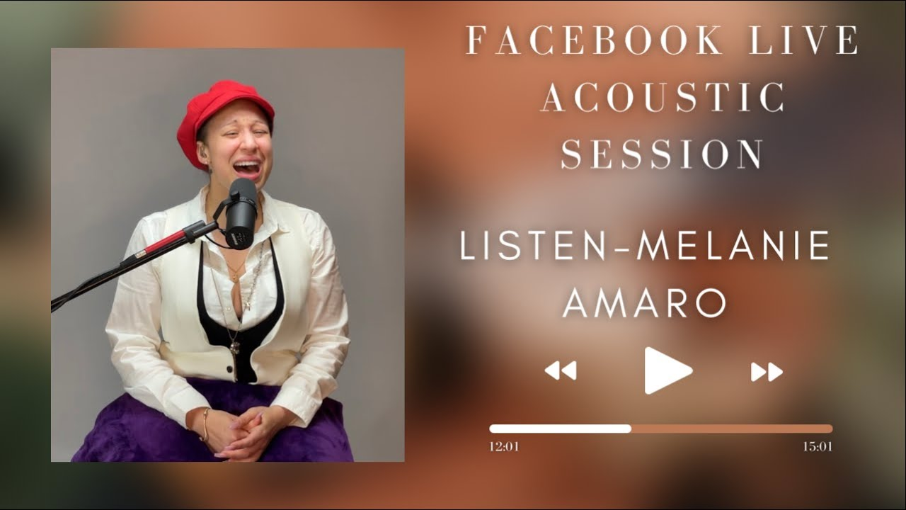 Listen -  ( Melanie Amaro Acoustic Cover ) Facebook Live Sessions