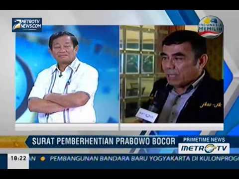 Kesaksian Dua Jenderal Atas Pemecatan Prabowo