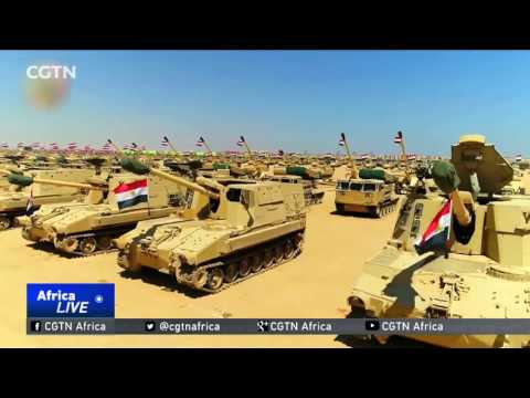 Egyptian president opens army base near border with troubled Libya
