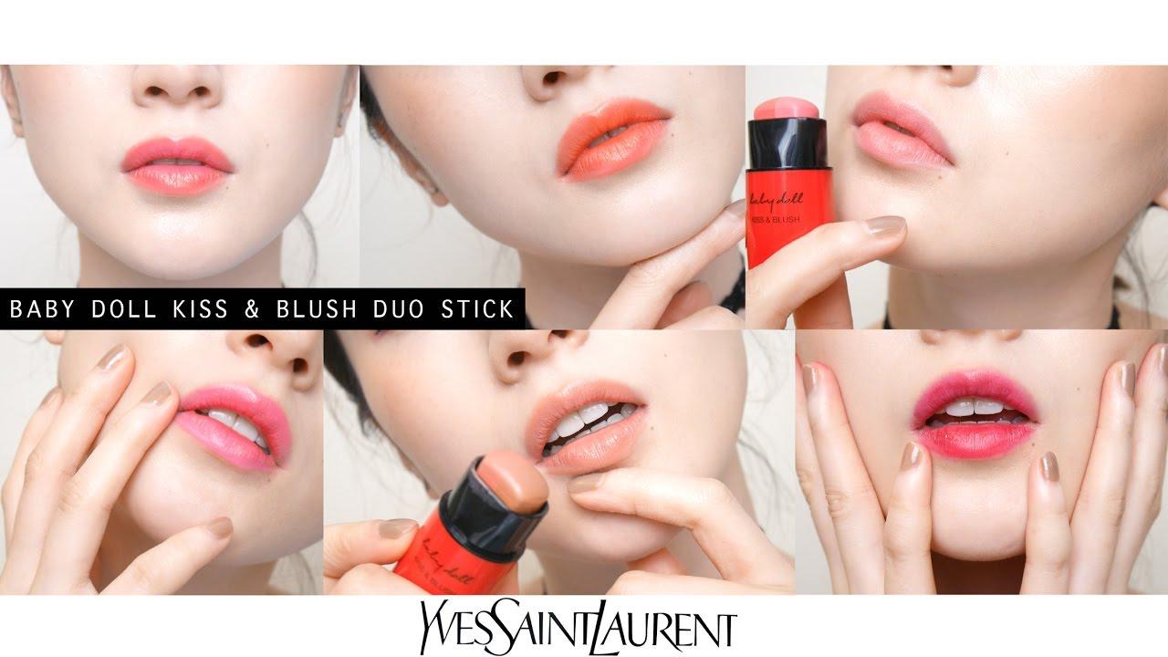 Ysl玩色炫耀雙色唇頰棒全試色 Ysl Baby Doll Kiss Amp Blush Duo Stick