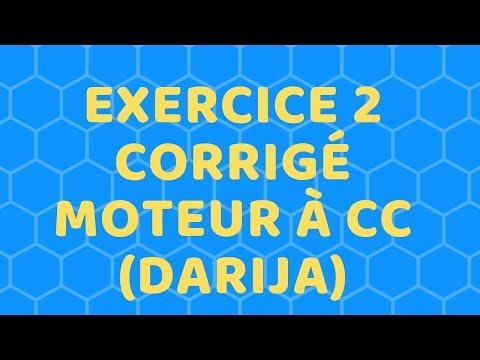 Exercice 2 Corrigé Moteur à Cc (DARIJA)
