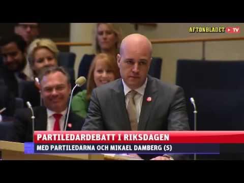 Fredrik Reinfeldt äger Gustav Fridolin.