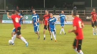 موظفة بالأمم المتحدة تشارك فى مباراة اليوم الرياضى بالجزيرة