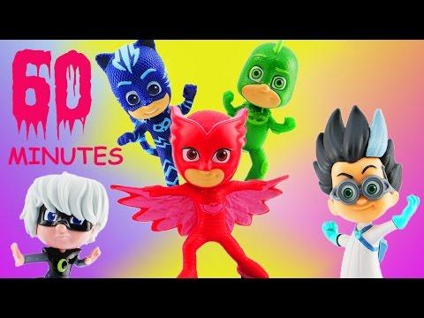 PJ Masks 1 Hour Compilation w Owlette, Catboy, Gekko, Rome & Luna Girl Full Episodes 2017