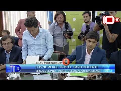 Los números tras el paro docente: Comunicación telefónica con Sergio Siciliano