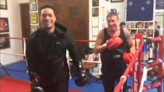Joseph Parker beating up on Kevin Barry