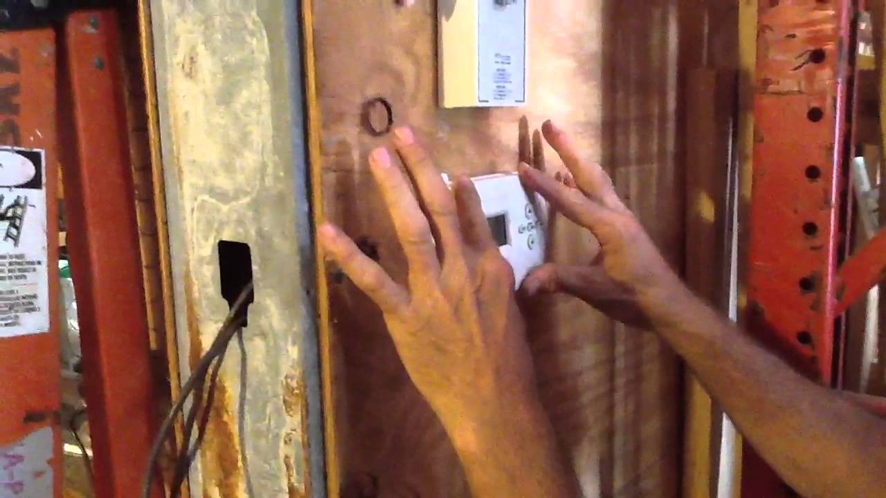 How To Replace Batteries On A Digital Thermostat Youtube Honeywell Control Boards Wiring Diagram