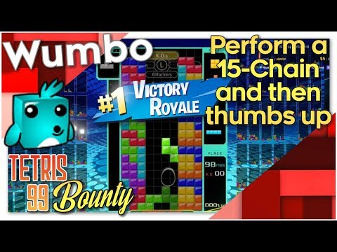 """Tetris 99 Bounty - """"Perform a 15+ combo then thumbs up"""""""
