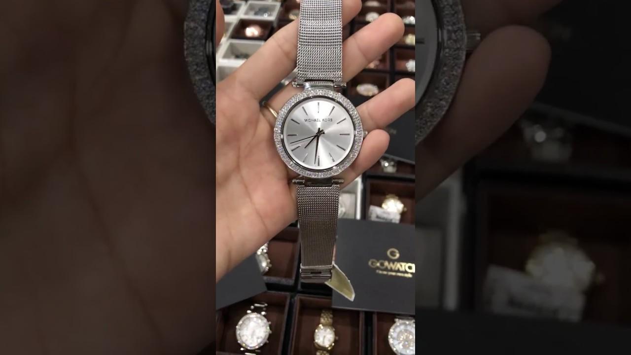 f3e02668af14 Michael Kors MK3367 Silver Darci Stainless Steel Mesh Bracelet Watch ...