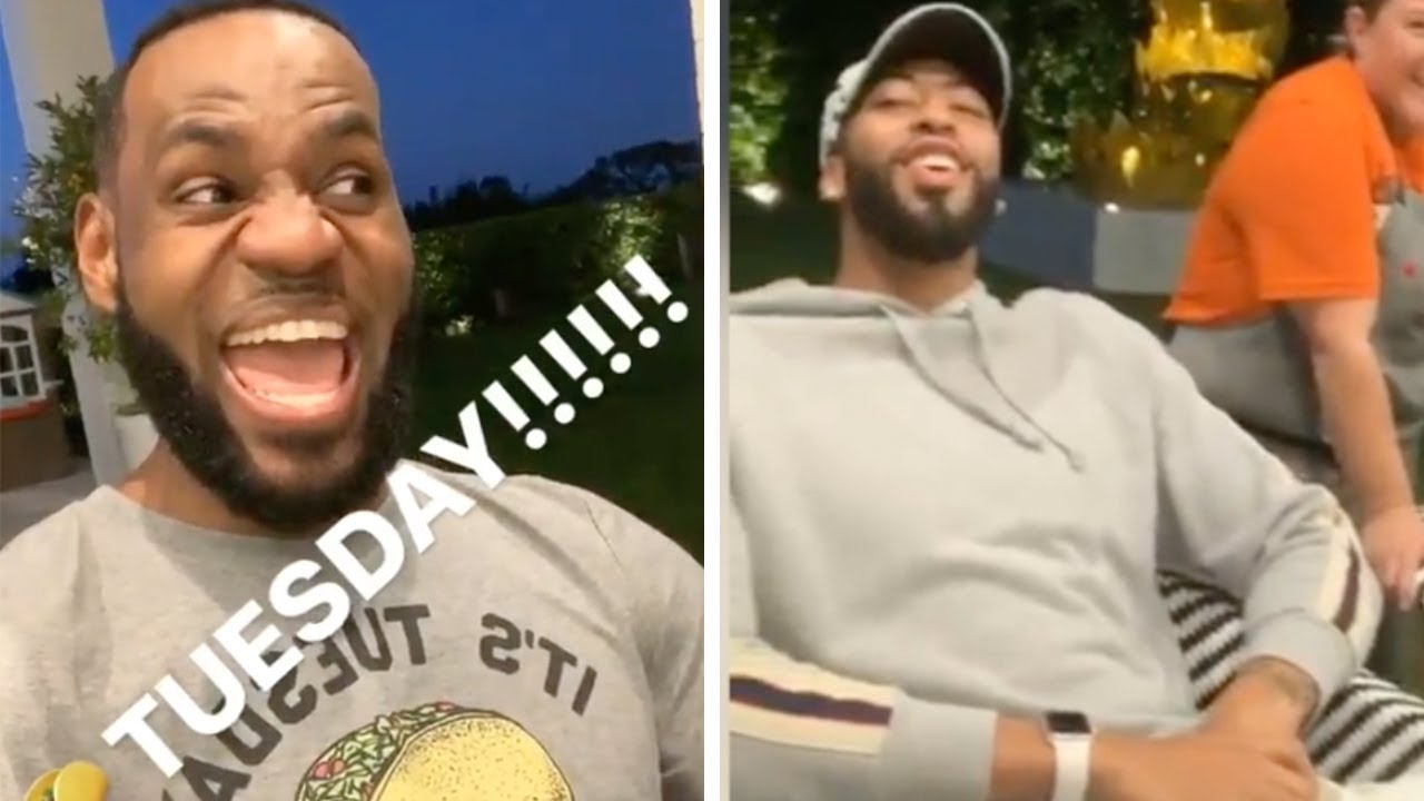 Lebron James Anthony Davis First Ever Taco Tuesday