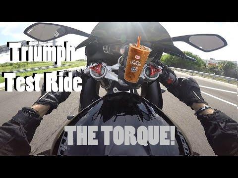 Triumph Daytona  Test Ride