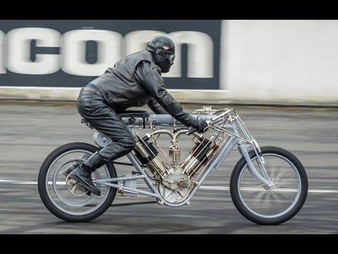 JAP NLG BIG TWIN 2714 cc on Montlhery circuit