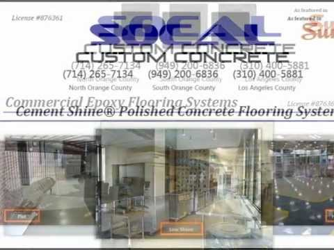 Epoxy Concrete Floors Polished Concrete Floors Orange County Los Angeles  SoCal  Custom Concrete