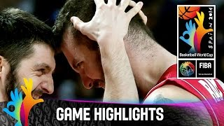 France v Serbia - Game Highlights - Semi-Final - 2014 FIBA World Cup