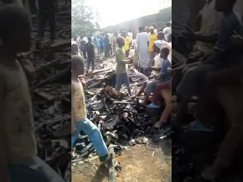 Jos Main Market (Terminus Market) Gutted By Fire