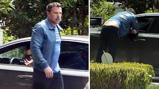 Ben Affleck Flaunts His BIG Back Tattoo While Talking To Ex-Wife Jennifer Garner