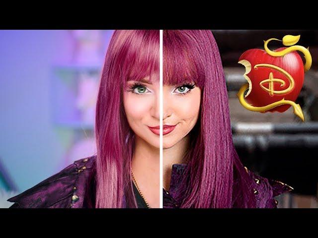 Mal Descendants Transformation | Disney Makeup Tutorial