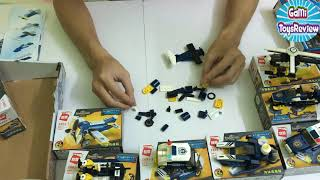police plane helicopter police Police cano Fire Truck Tractor Excavator Toy Vehicles for Kids 7