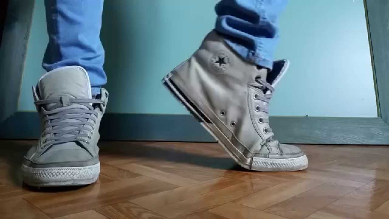02714d627f20 Converse Padded Collar grey and blue skinny jeans - YouTube