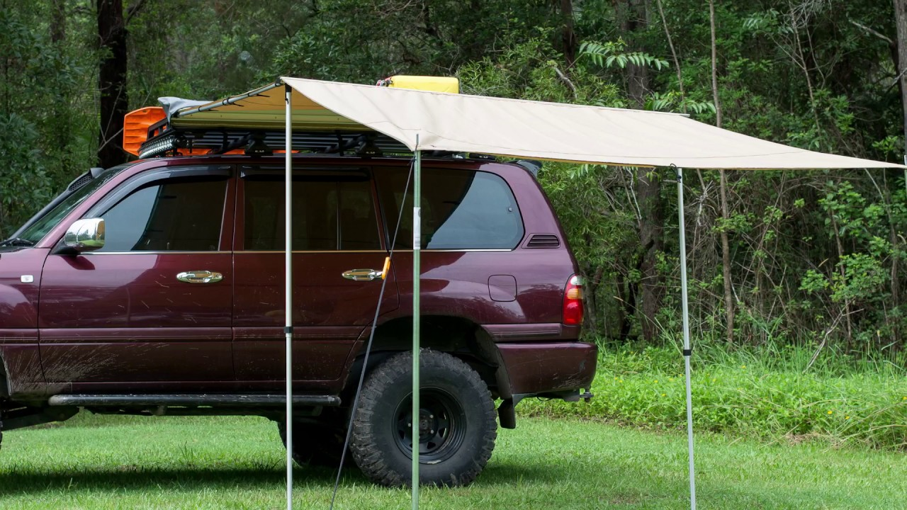 4Wd Awning Tent ridge ryder led 4wd awning shade - 2.0 x 2.0m | supercheap