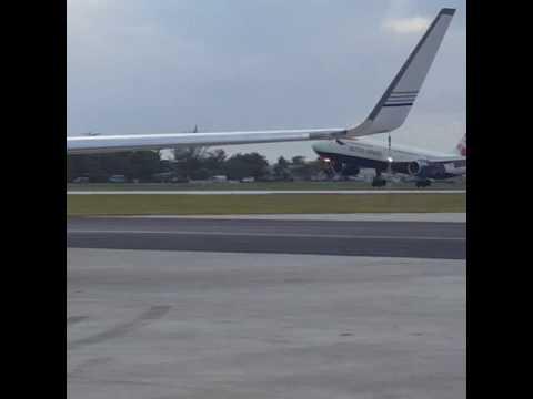 British Airways B767 Landing in Cayman Islands