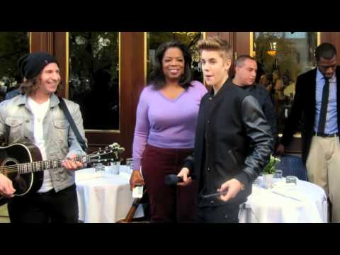 Justin bieber  Chicago for Oprah ! october 2012