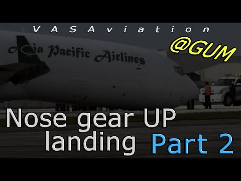[REAL ATC] Asia Pacific B727 landing WITHOUT NOSE GEAR!! | PART 2