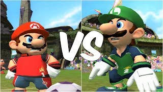 Super Mario Strikers - Mario vs Luigi - GameCube Gameplay (720p60fps)