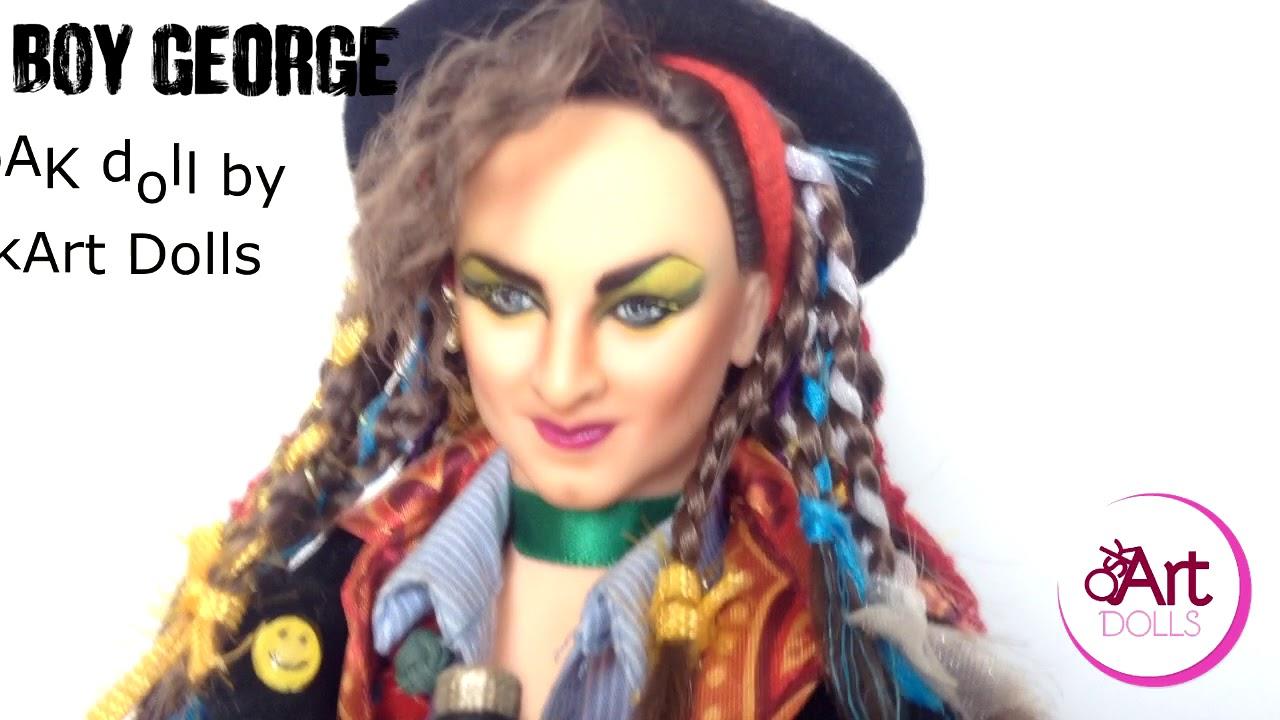 boy george ooak dolloskart dolls - youtube