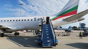 Embraer 190 а/к Bulgaria Air | Рейс Милан - София