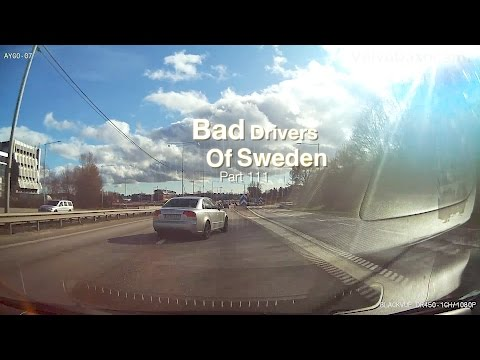 Bad Drivers in Sweden #111 Last(?) snow, red lights and angry drivers