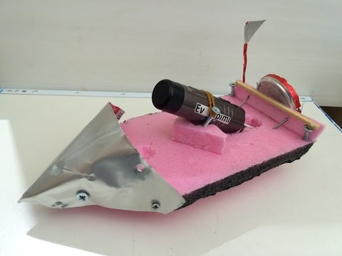 Traş Makinesinden Oyuncak Tekne Yapımı , Ev Yapımı Oyuncak Tekne