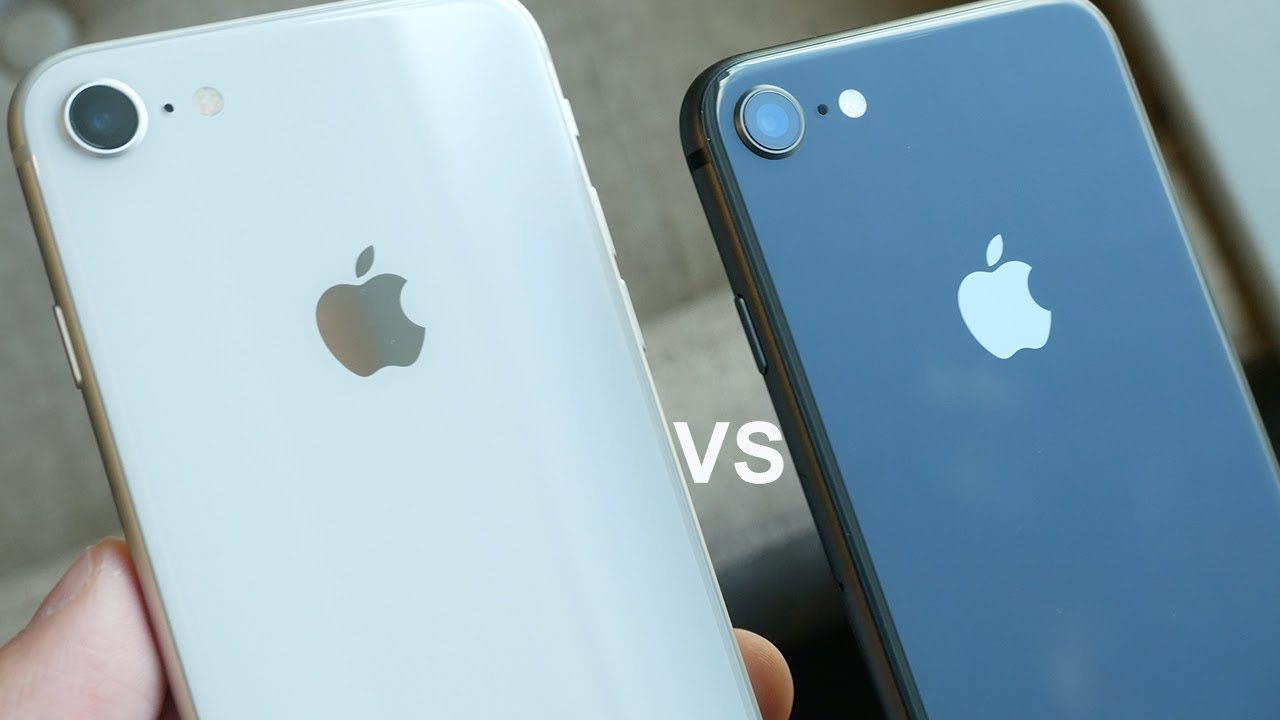 space grey vs black iphone 8