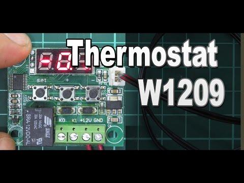 Модуль термостата W1209 и его доработка