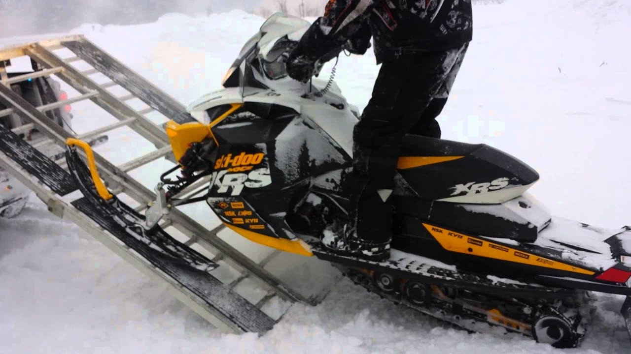 Sled Deck Ski Doo Mxz Renegade Xrs 1 4 15 Youtube